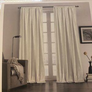 White Velvet Curtains